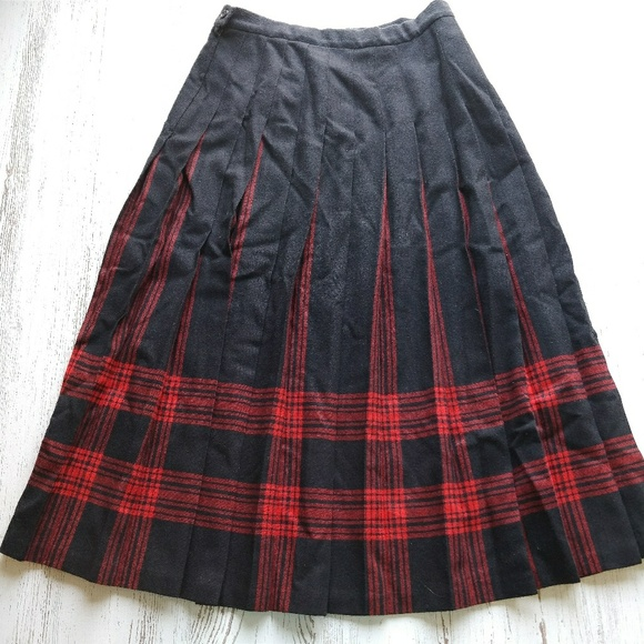 696a179759d925 Pendleton Skirts | Skirt Plaid Wool Pleated Menzies Tartan | Poshmark